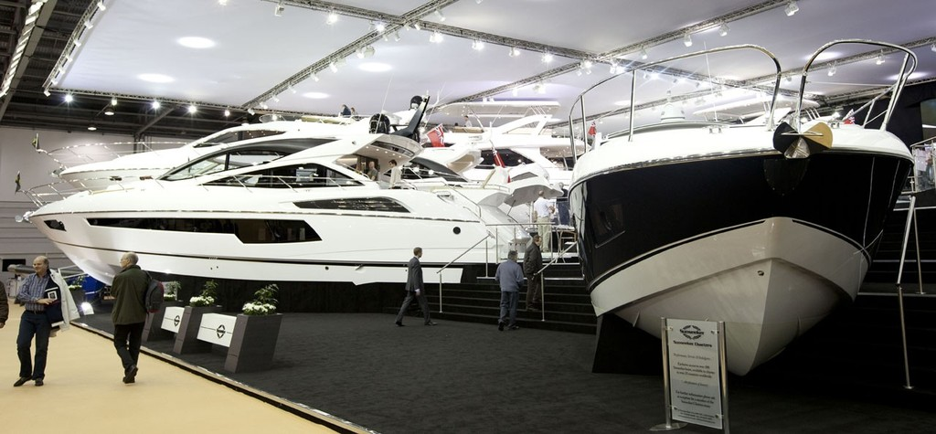 The Sunseeker stall, at the Tullett Prebon London Boat Show, ExCeL, London. © onEdition http://www.onEdition.com