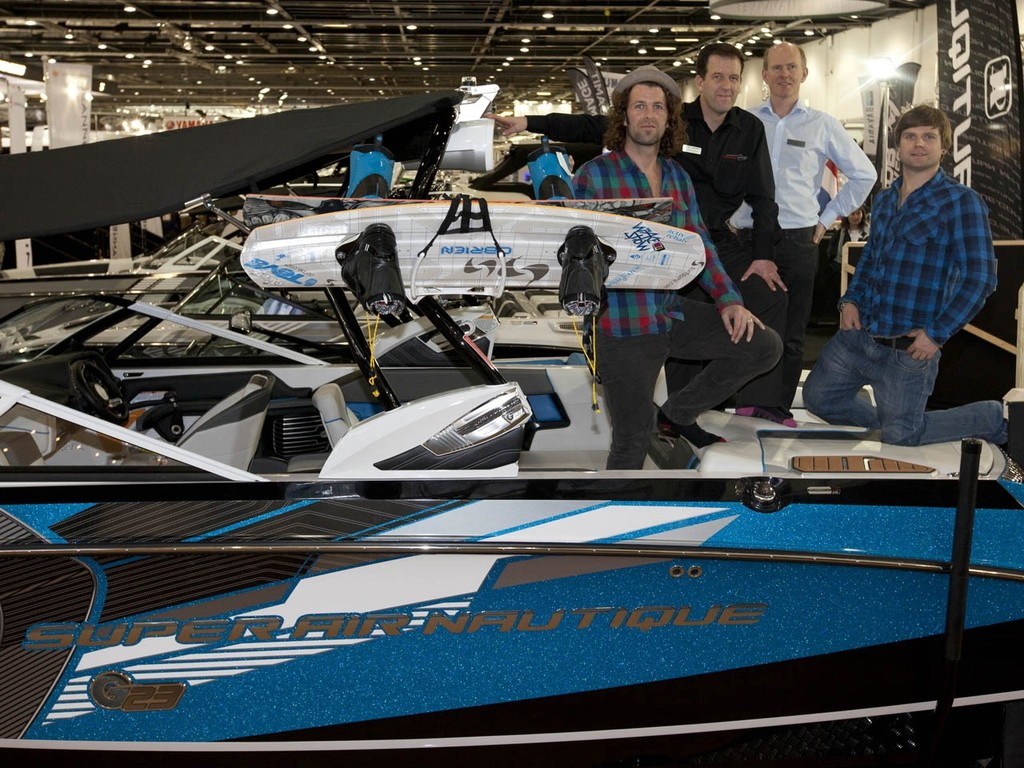 The launch of the new Nautique G23 Wake Boat, at the Tullett Prebon London Boat Show, ExCeL, London. © onEdition http://www.onEdition.com