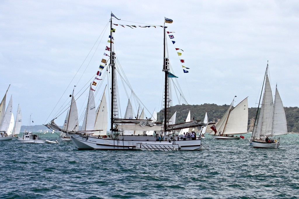 The restored scow, Jane Gifford - 2013 Mahurangi Regatta © Richard Gladwell www.photosport.co.nz
