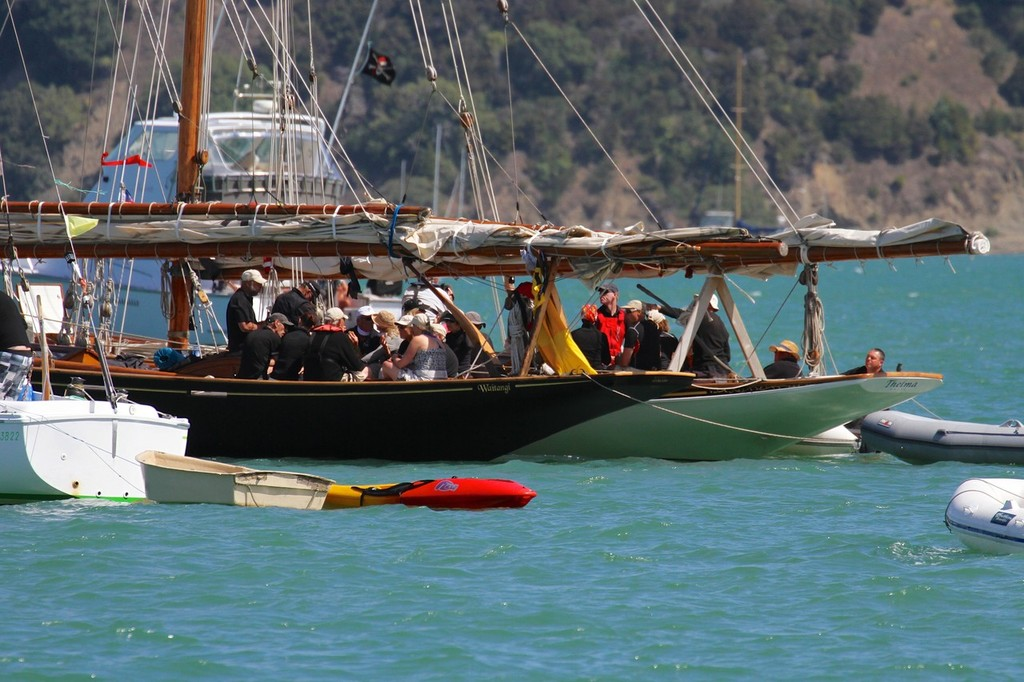 Waitangi and Thelma - 2013 Mahurangi Regatta © Richard Gladwell www.photosport.co.nz