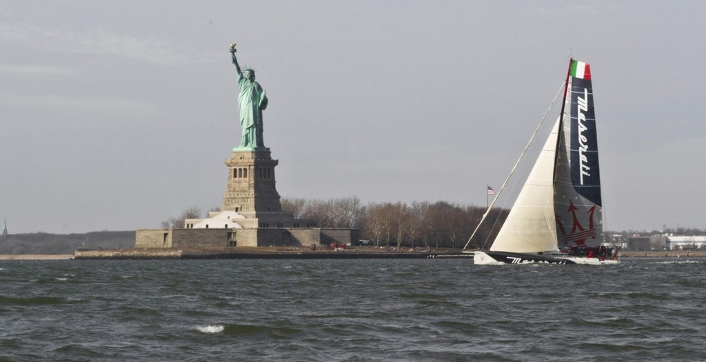 Maserati Yacht leaves New York for a record-breaking voyage to San Francisco © Maserati Challenge