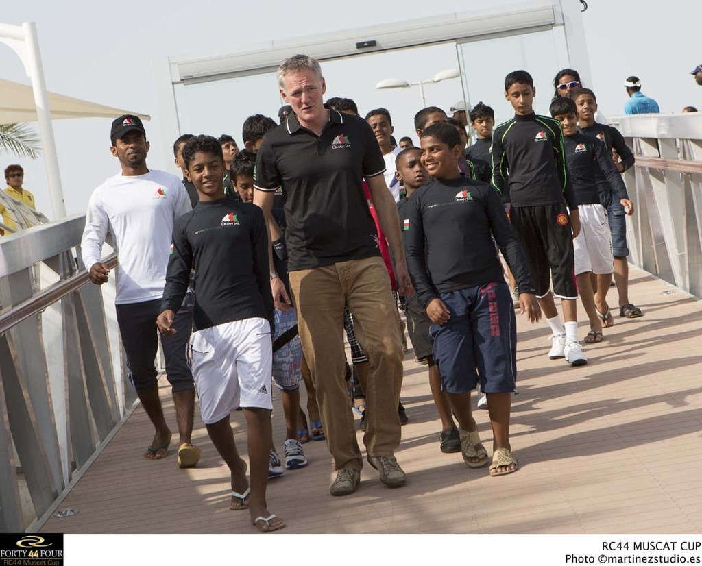 Dave Graham CEO of Oman Sail and the youth program sailors - 2013 RC44 Oman Cup © RC44 Class/MartinezStudio.es