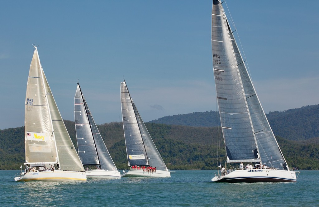 Royal Langkawi International Regatta 2013 - Racing start in clear breeze and sunshine. © Guy Nowell http://www.guynowell.com