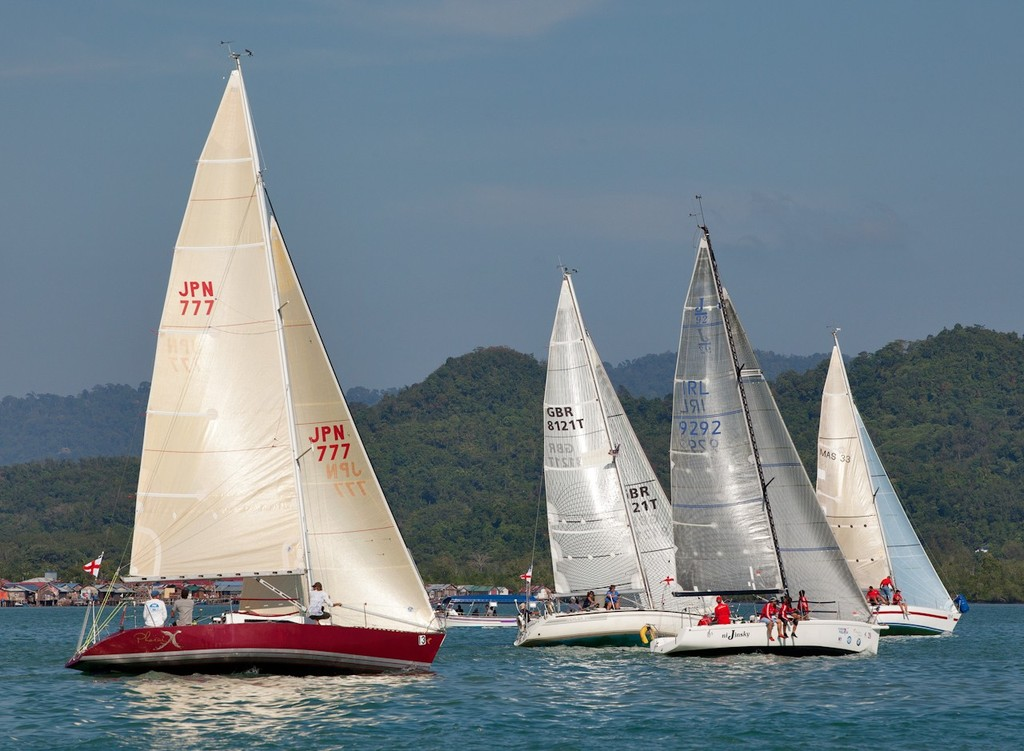 Royal Langkawi International Regatta 2013 - IRC 1 goes away. © Guy Nowell http://www.guynowell.com