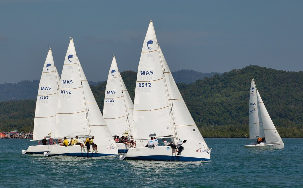 Royal Langkawi International Regatta 2013 - another contested start for the Platus. © Guy Nowell http://www.guynowell.com