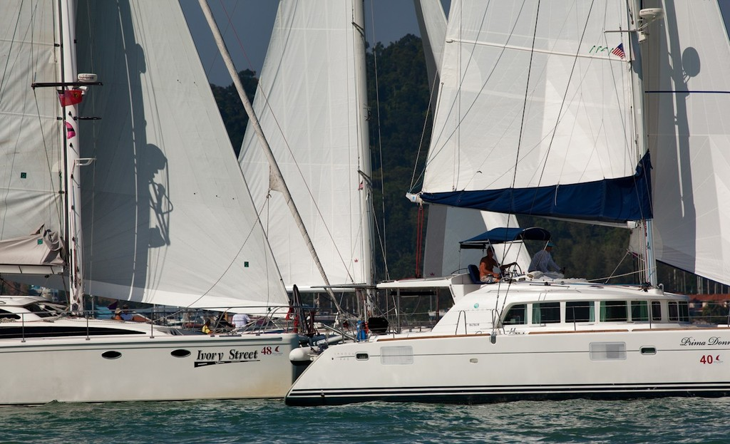 Royal Langkawi International Regatta 2013 -wall to wall Multihulls © Guy Nowell http://www.guynowell.com