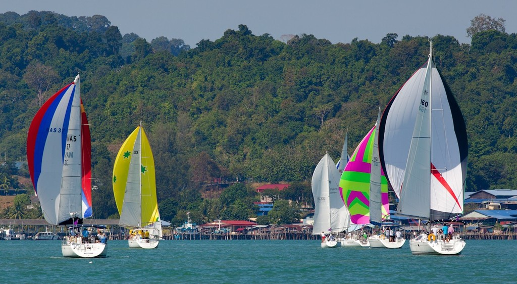 Royal Langkawi International Regatta 2013 - colour in Bass Harbour © Guy Nowell http://www.guynowell.com