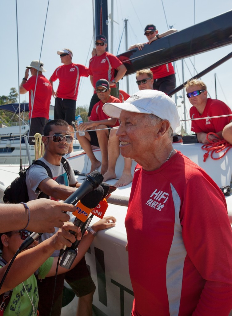 Royal Langkawi International Regatta 2013. Neil Pryde meets the press. © Guy Nowell http://www.guynowell.com