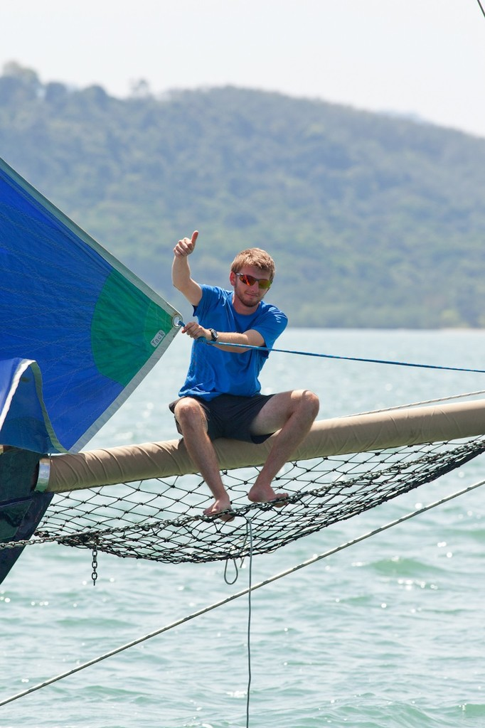 Royal Langkawi International Regatta 2013. Out on a limb - Eveline. © Guy Nowell http://www.guynowell.com