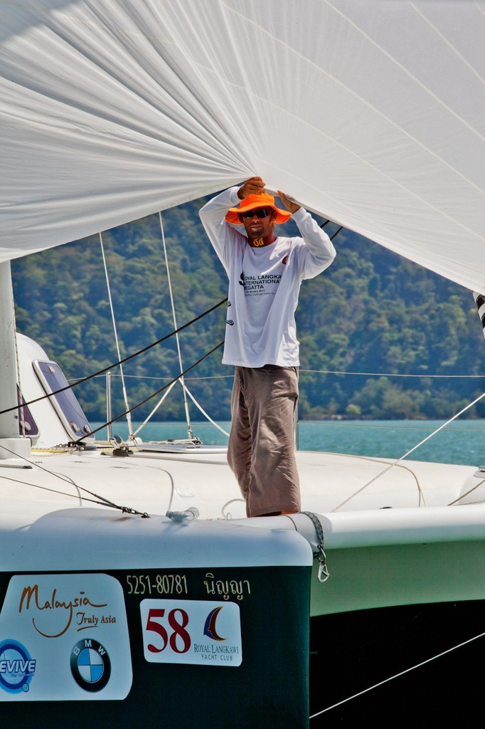 Royal Langkawi International Regatta 2013.Peek-a-boo, I see you. © Guy Nowell http://www.guynowell.com