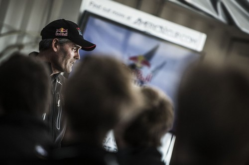 Team Oracle CEO Russell Coutts greets the sailors on the opening day of the Red Bull Youth America´s Cup Selection Series in San Francisco, California, USA<br />  &copy; Balazs Gardi / Red Bull Content Pool