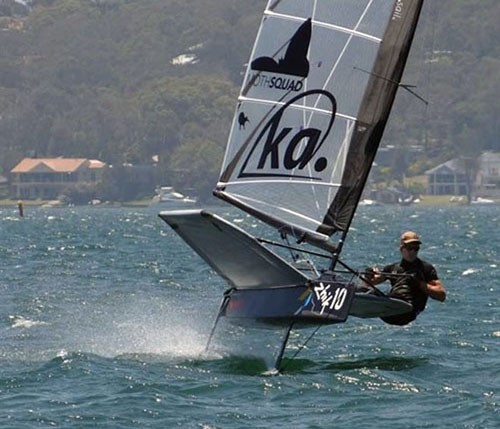 Overall winner Pete Burling from NZ - 2013 Australian Moth Championship © Kingsley Forbes-Smith http://www.2sail.net