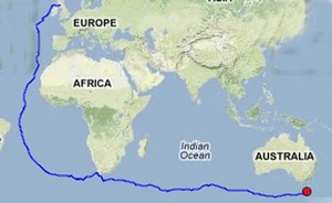 Gerry Hughes circumnavigation so far photo copyright  SW taken at  and featuring the  class