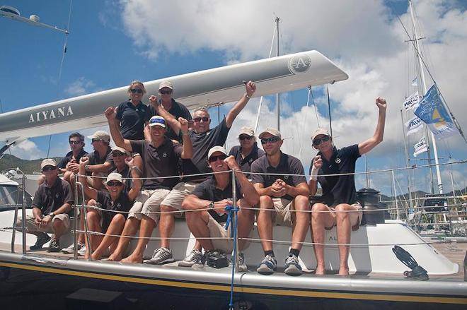 Victory for Peter Corr's Alia 82, Aiyana in the Round Tortola Race ©  Todd Van Sickle