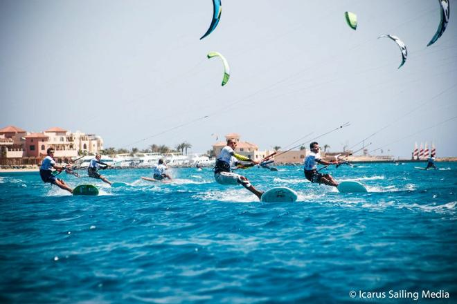 Screaming down to the finish line - 2013 African Kiteacing Championships © Icarus Sailing Media