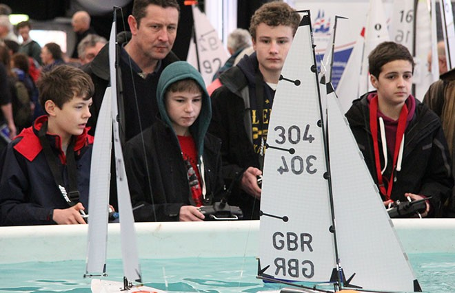 Concentration in the Prestart - RYA Dinghy Show 2013 © Sail-World.com http://www.sail-world.com