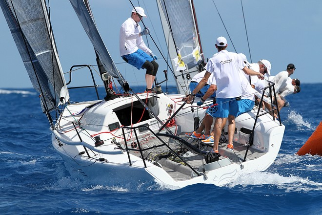 Alex Jackson, Leenabarca at Melges 32 Virgin Islands Sailing Series  © Joy Dunigan