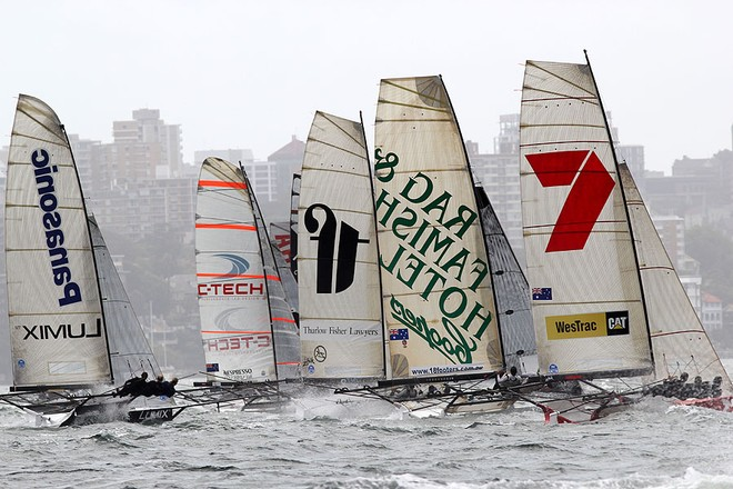 Race 7, JJ Giltinan Trophy, 2013, Sydney Harbour © Frank Quealey /Australian 18 Footers League http://www.18footers.com.au