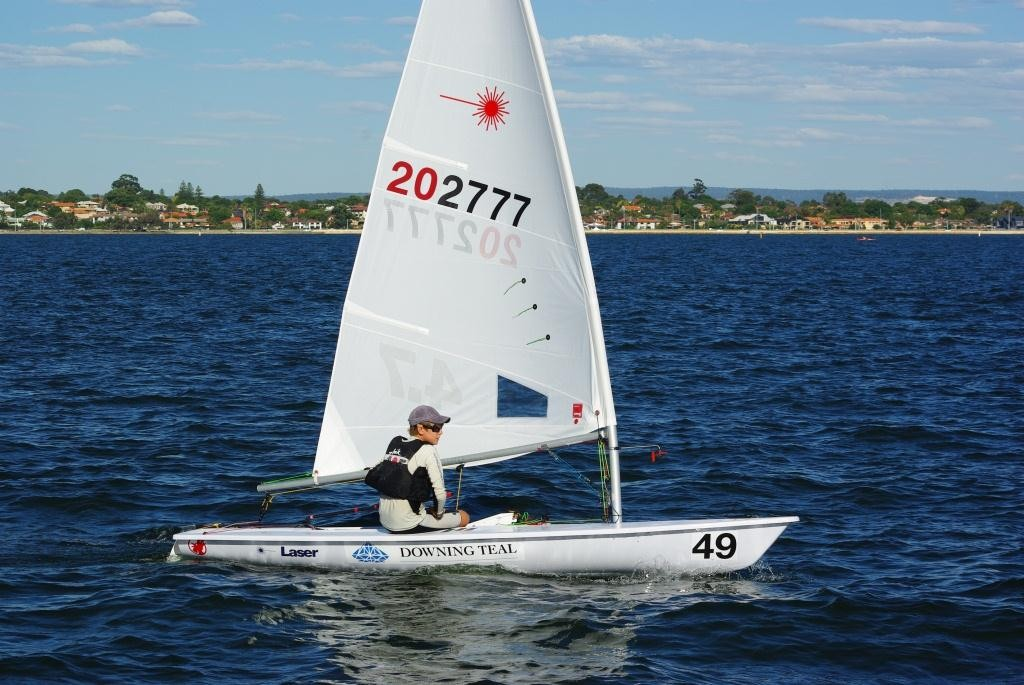 Australian Youth Champion Conor Nicholas will be looking to make it back to back titles at Claremont Yacht Club. - 2013 WA State Laser Championships © Brad Utting