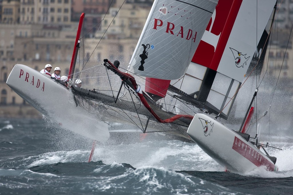 Luna Rossa during the America's Cup World Series Naples 2012 © ACEA - Photo Gilles Martin-Raget http://photo.americascup.com/