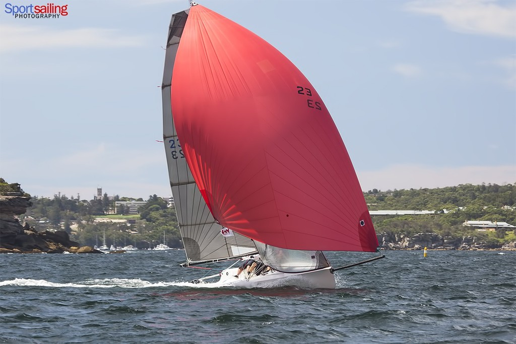 James Dwyer's Emma Peel in the Sports Boats division  - Helly Hansen Sydney Harbour Regatta 2013  © Beth Morley - Sport Sailing Photography http://www.sportsailingphotography.com