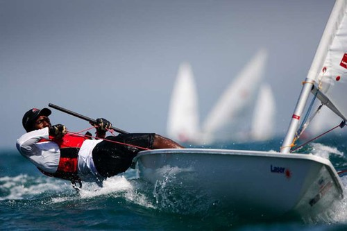Laser class at the 2013 Mussanah Race Week © Lloyd Images http://lloydimagesgallery.photoshelter.com/
