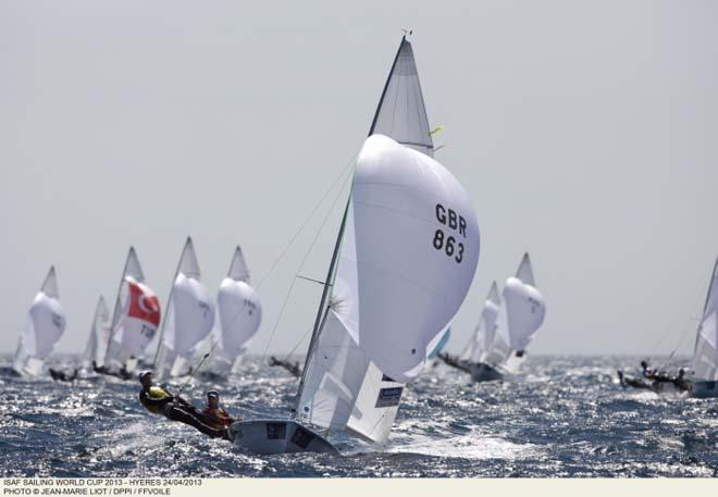 470 Men's action - ISAF Sailing World Cup Hyeres 2013 ©  Jean-Marie Liot /DPPI/FFV