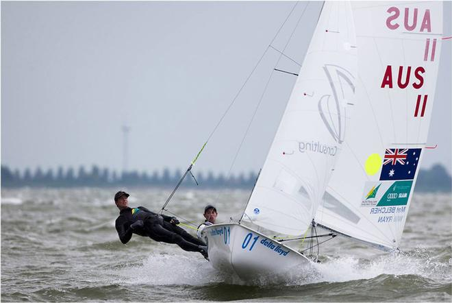 470 men's crew Mathew Belcher and Will Ryan in Holland  © Sander van der Borch http://www.sandervanderborch.com