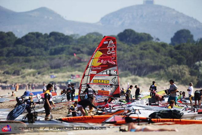 A full house here in Costa Brava - 2013 PWA Catalunya World Cup ©  John Carter / PWA http://www.pwaworldtour.com