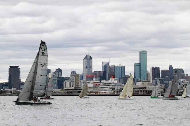 The City of Melbourne is the backdrop for racing - Australian Sports Boat Association National Championships 2013 © Teri Dodds http://www.teridodds.com