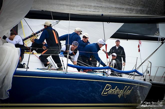Skipper Jim Richardson and the Barking Mad crew led going into the final day, but finished third. © Sara Proctor http://www.sailfastphotography.com