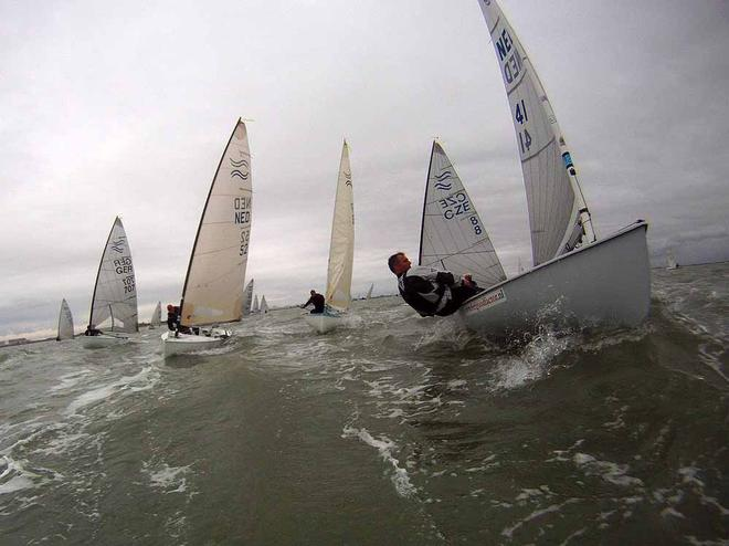 Finn World Masters images with reverse mounted Go-Pro camera © Robert Deaves/Finn Class http://www.finnclass.org