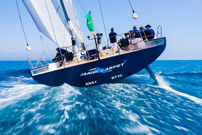 MAGIC CARPET CUBED, Sail n: GBR1001, Owner: SIR LINDSAY OWEN-JONES, Group 0 (IRC >18.29 mt) - 2013 Giraglia Rolex Cup © Marcel Mochet / Route des Princes