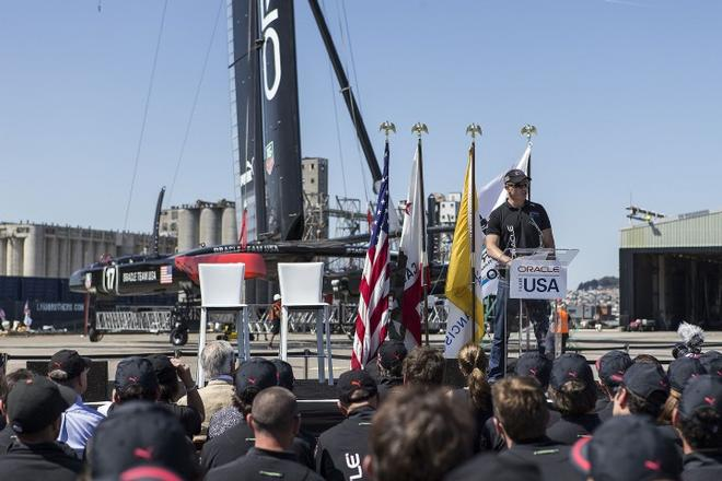 Oracle Team USA launches second AC72  © Guilain Grenier Oracle Team USA http://www.oracleteamusamedia.com/