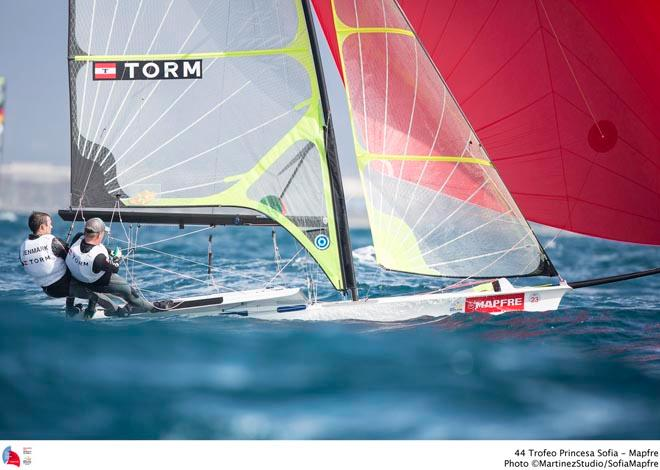 49er DEN Jonas Warrer and Peter Lang in their first race together  © MartinezStudio.es