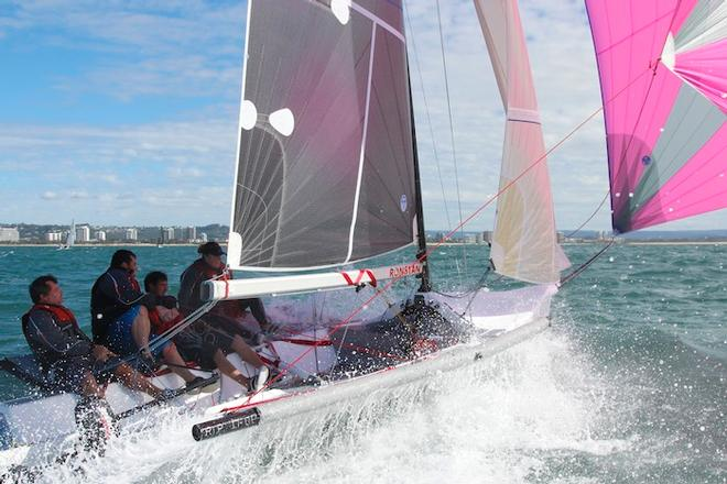 Rip it up literally did that today on the water - Sail Mooloolaba 2013 © Teri Dodds http://www.teridodds.com