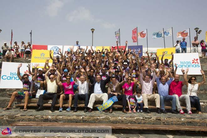 The 2013 Gran Canaria crew all set for action - 2013 PWA Pozo World Cup ©  John Carter / PWA http://www.pwaworldtour.com