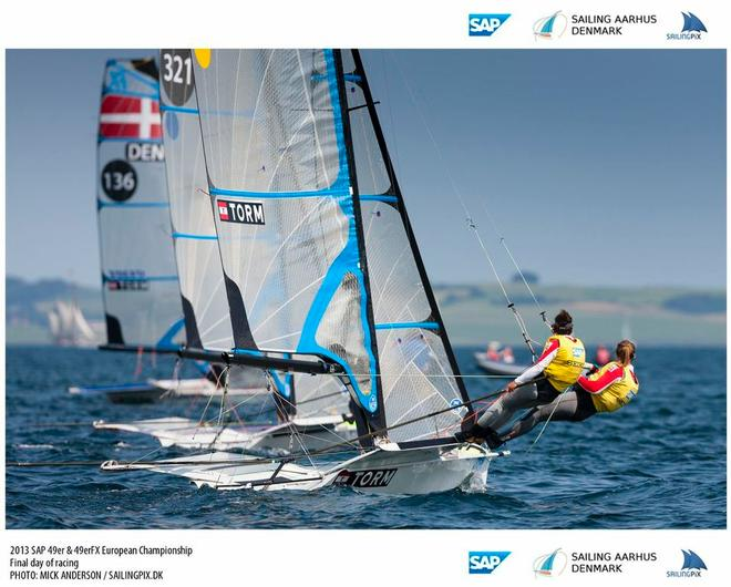 SAP 49er and 49erfx Europeans © Mick Anderson / Sailingpix.dk http://sailingpix.photoshelter.com/