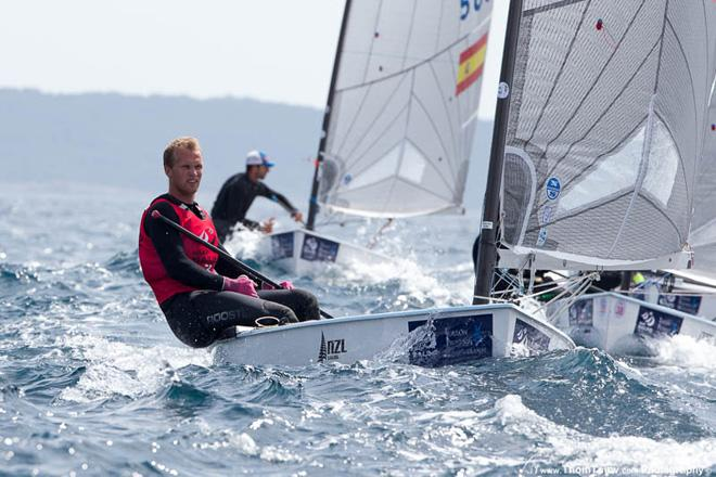 Josh Junior (NZL) - Finn class racing at the ISAF Sailing World Cup Hyeres 2013 © Thom Touw http://www.thomtouw.com