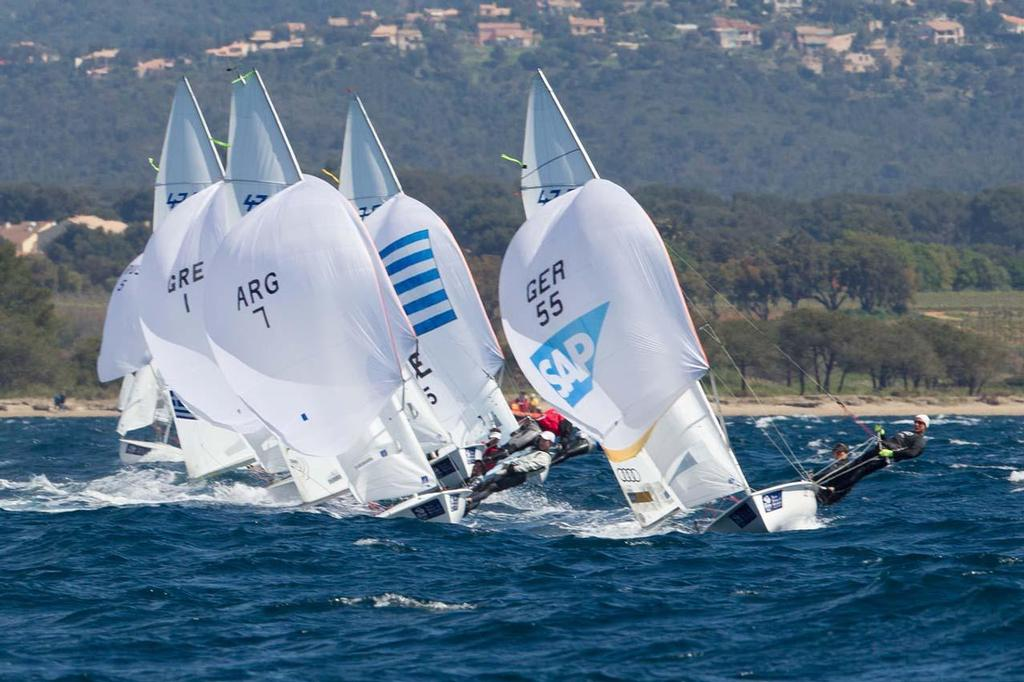 ISAF Sailing World Cup Hyeres 2013 - 470 fleet © Thom Touw http://www.thomtouw.com