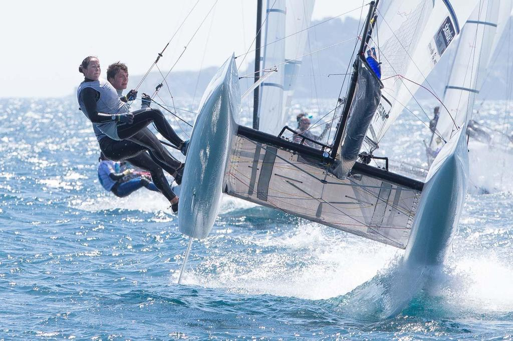 ISAF Sailing World Cup Hyeres 2013 - Nacra 17 © Thom Touw http://www.thomtouw.com