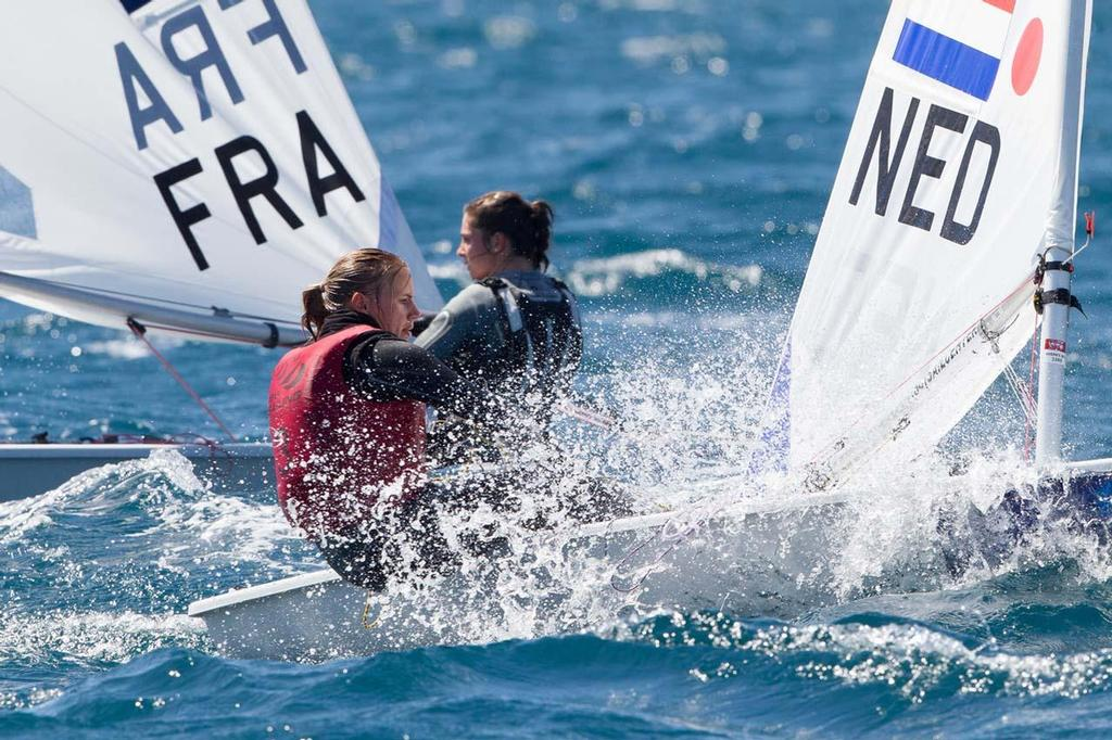 ISAF Sailing World Cup Hyeres 2013 - Laser Radial, Marit Bouwmeester (NED) © Thom Touw http://www.thomtouw.com
