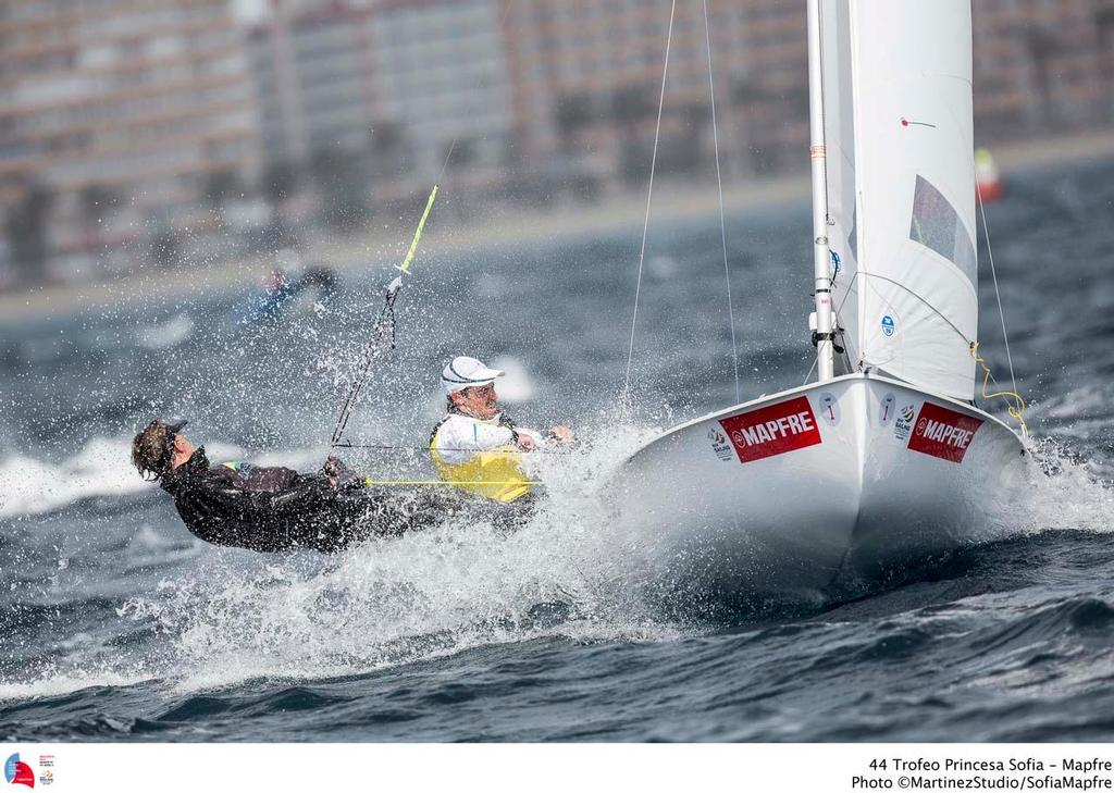 44 Trofeo Princesa Sofia Mapfre Medal Race,day 6 - 470 Men; AUS; AUS-11; 1; Mat Belcher; Will Ryan © MartinezStudio.es