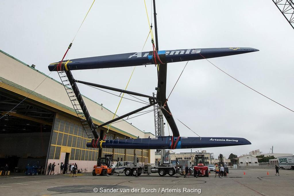 - Artemis Racing - Out of the Shed - July 9, 2013 © Sander van der Borch / Artemis Racing http://www.sandervanderborch.com