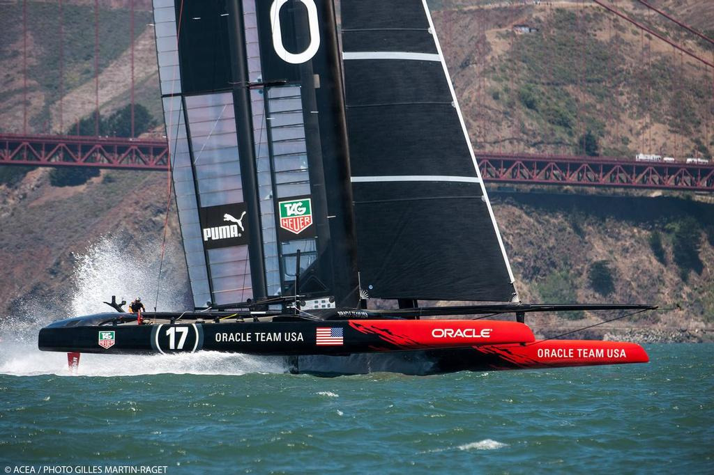 21/06/2013 - San Francisco (USA,CA) - 34th America's Cup - Oracle, ETNZ, and Atemis train today on the Bay © ACEA/ Bob Grieser http://photo.americascup.com/
