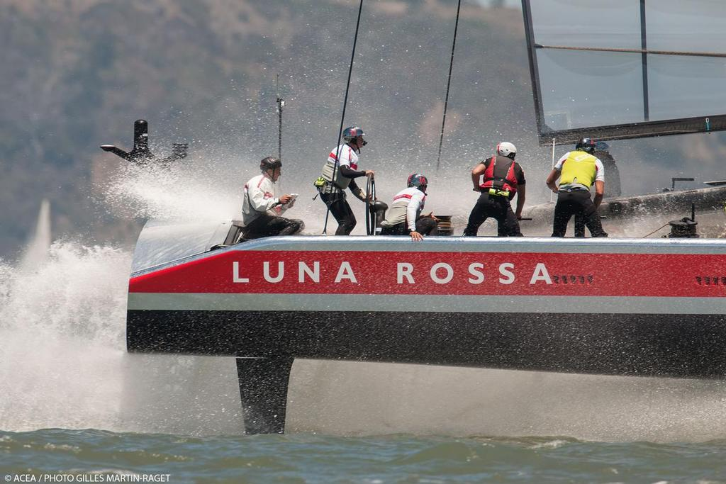 21/06/2013 - San Francisco (USA,CA) - 34th America's Cup - Luna Rossa and ETNZ training photo copyright ACEA/ Bob Grieser http://photo.americascup.com/ taken at  and featuring the  class
