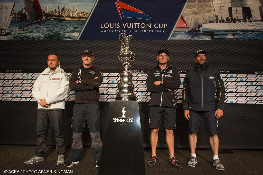 34th America's Cup - Press Conference with Skippers © Americas Cup Media www.americascup.com