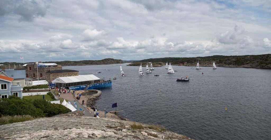 Natural stadium venue for match racing in Marstrand Island, Sweden. © Brian Carlin/AWMRT http://www.wmrt.com/