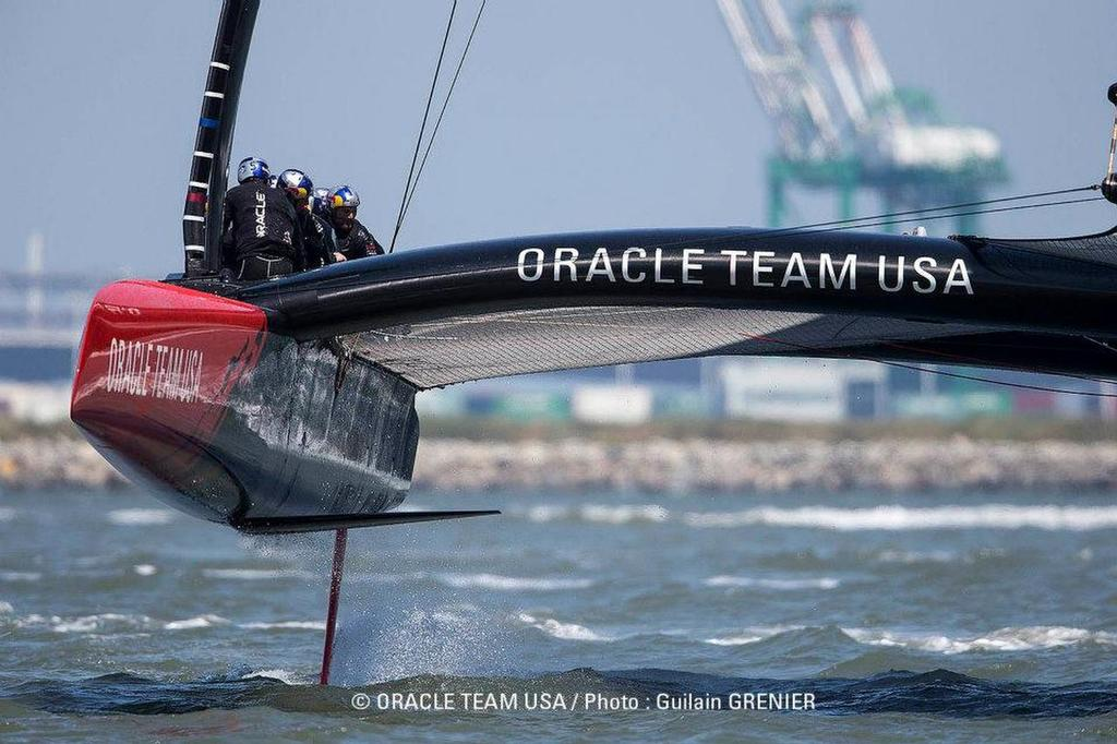 Only 2.7 metres of bow section is now required to be built in the country of origin © Guilain Grenier Oracle Team USA http://www.oracleteamusamedia.com/