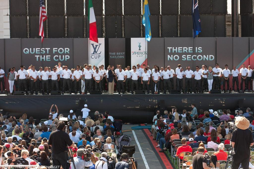 Opening Day, 34th America's Cup, San Francisco, July 4 2013 © ACEA - Photo Gilles Martin-Raget http://photo.americascup.com/